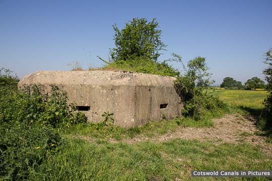 Type 26 Pillbox near Bristol Road Wharf on the Stroudwater Navigation