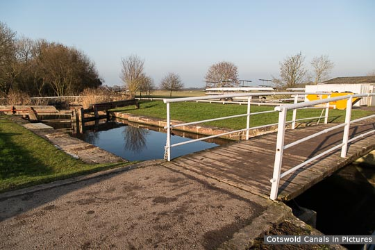 Junction Lock, Saul looking towards Framilode - after the 2016 restoration