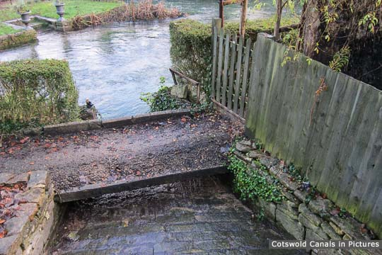 Spill Way near Ile's Bridge showing canal run-off into River Frome