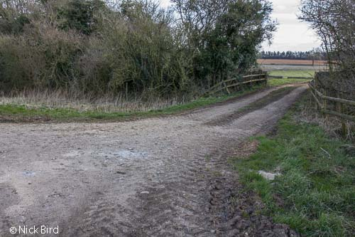 Farm track crossing canal, Smerrill