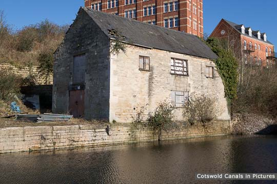 Original Thames & Severn Canal warehouse at Wallbridge, Stroud