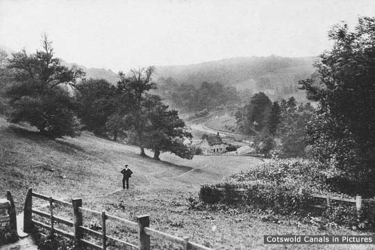 View from Sapperton over the Thames & Severn Canal at Daneway c.1904