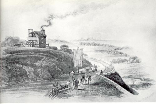 Thames Head Pumping Station - probably drawn in the early 19th century