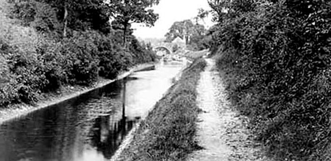 Canal before infilling near Blue House Bridge
