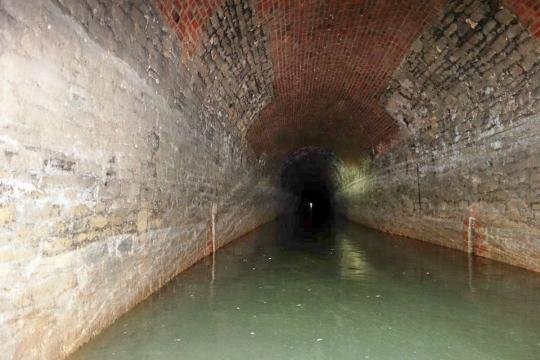 Sapperton Canal Tunnel - looking towards Coates Portal