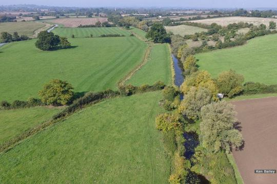 View from above A38 looking towards Saul
