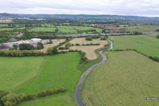 River Frome appraching M5.  New canal line will be to the left