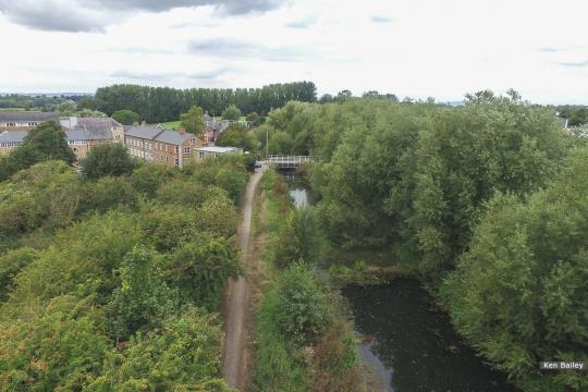 Bond's Mill Bridge looking towards Saul