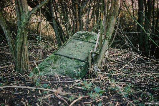 Milestone near Kempsford (since removed)