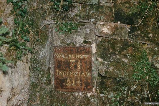 Milestone Plate, Daneway Tunnel Portal (since removed)