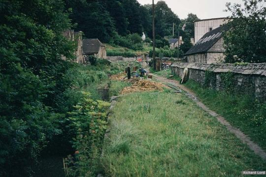 Chapel Lock, Chalford - now infilled - and installation of new sewer