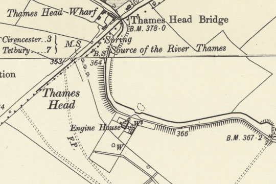 Thames Head Pumping Station Map