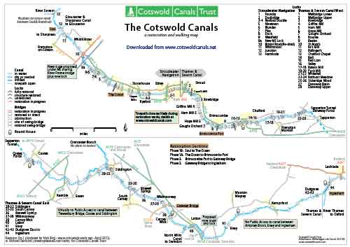 Cotswold Canals Map