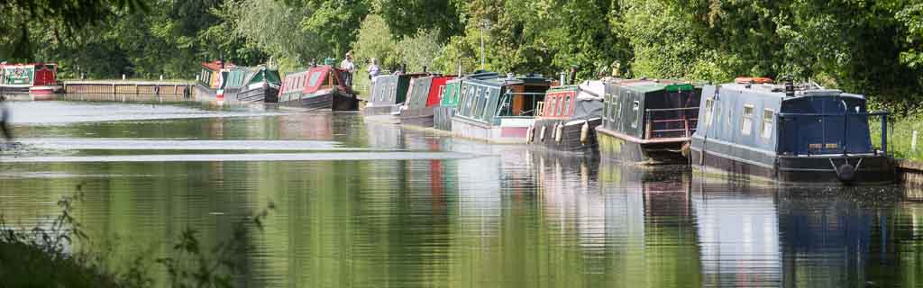 Boats moored at Saul Junction